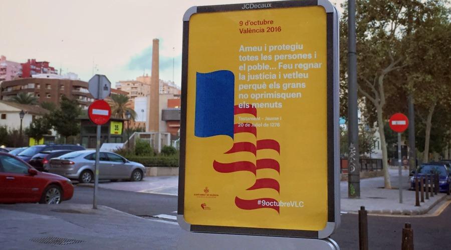 Diseño imagen y cartel 9 d'octubre. Ajuntament València