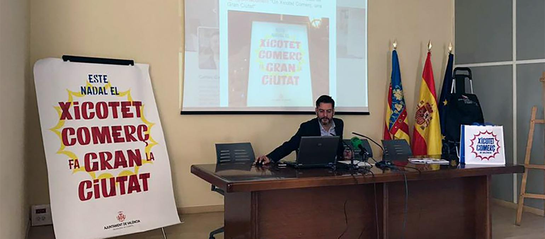 Presentació de la campanya del xicotet comerç de València